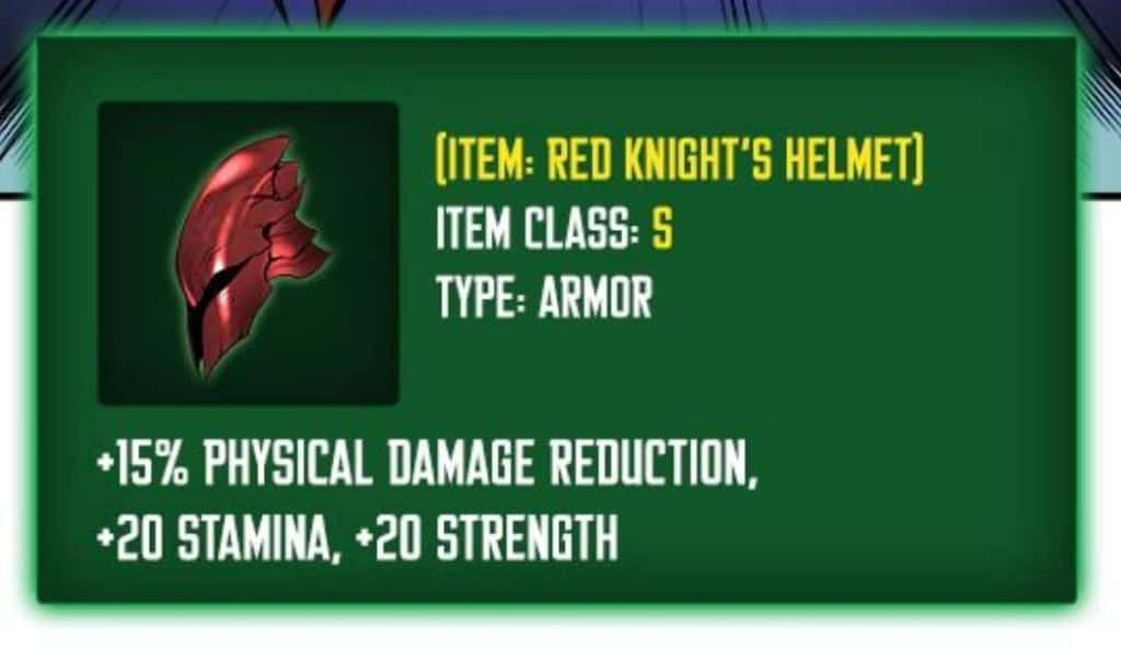 Jin-Woo Red Knight's Helmet
