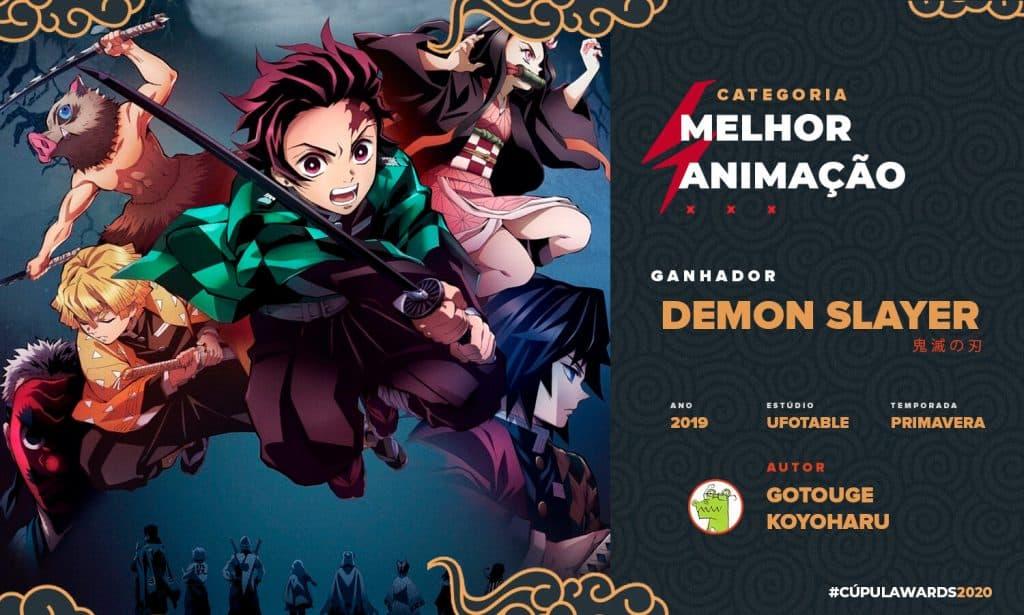 melhor animação de 2019 Demon Slayer anime