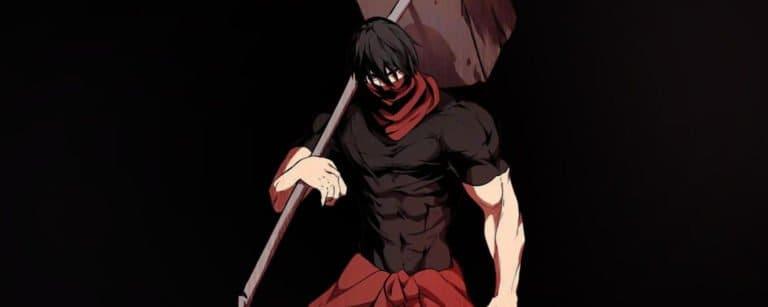 Sword King com um martelo de duas mãos