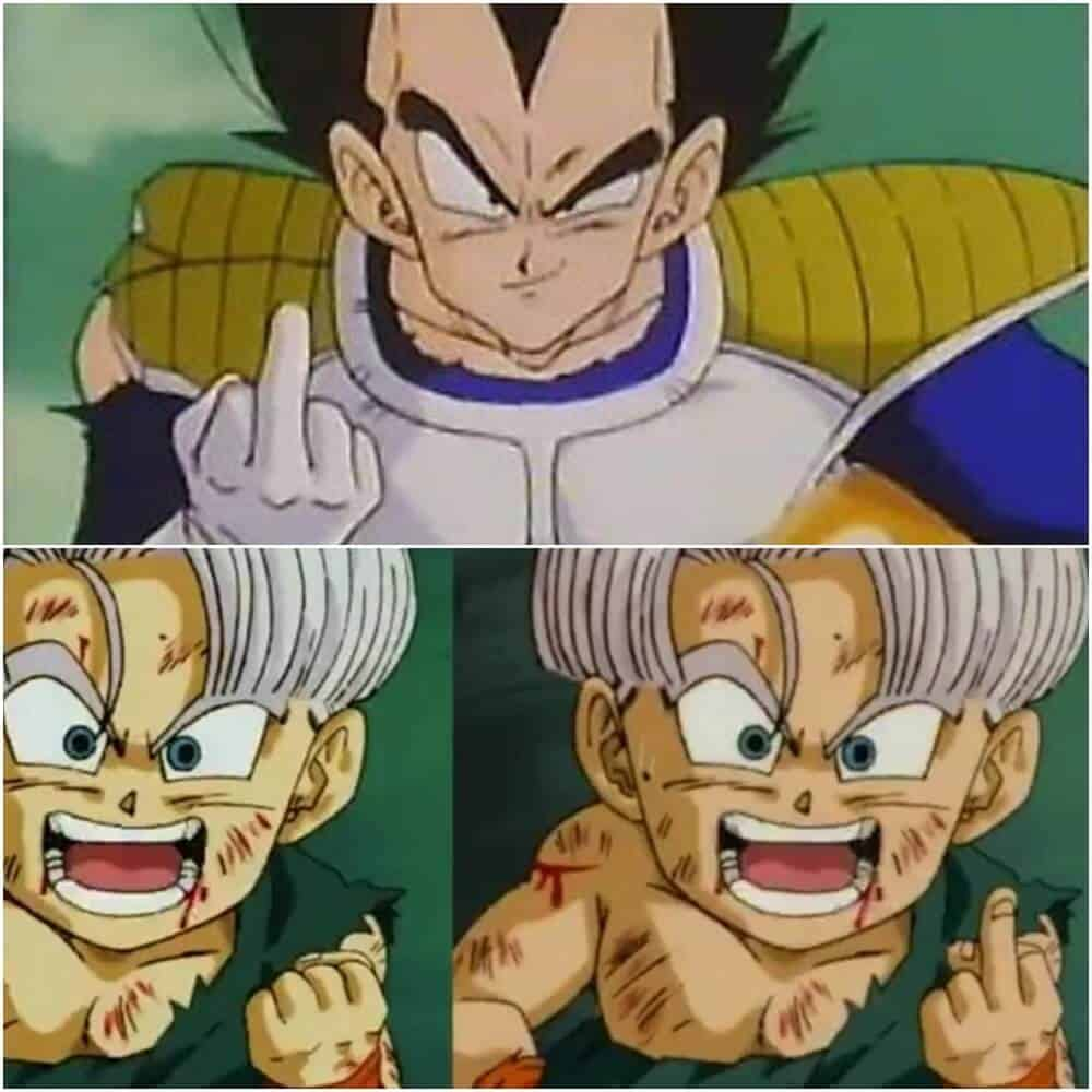 Vegeta e Trunks dentro de animes censurados