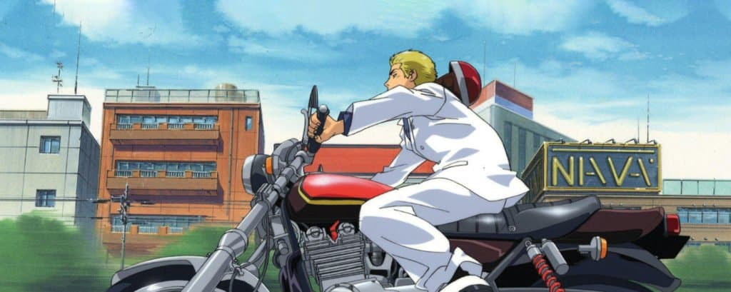 capa de great teacher onizuka andando de moto