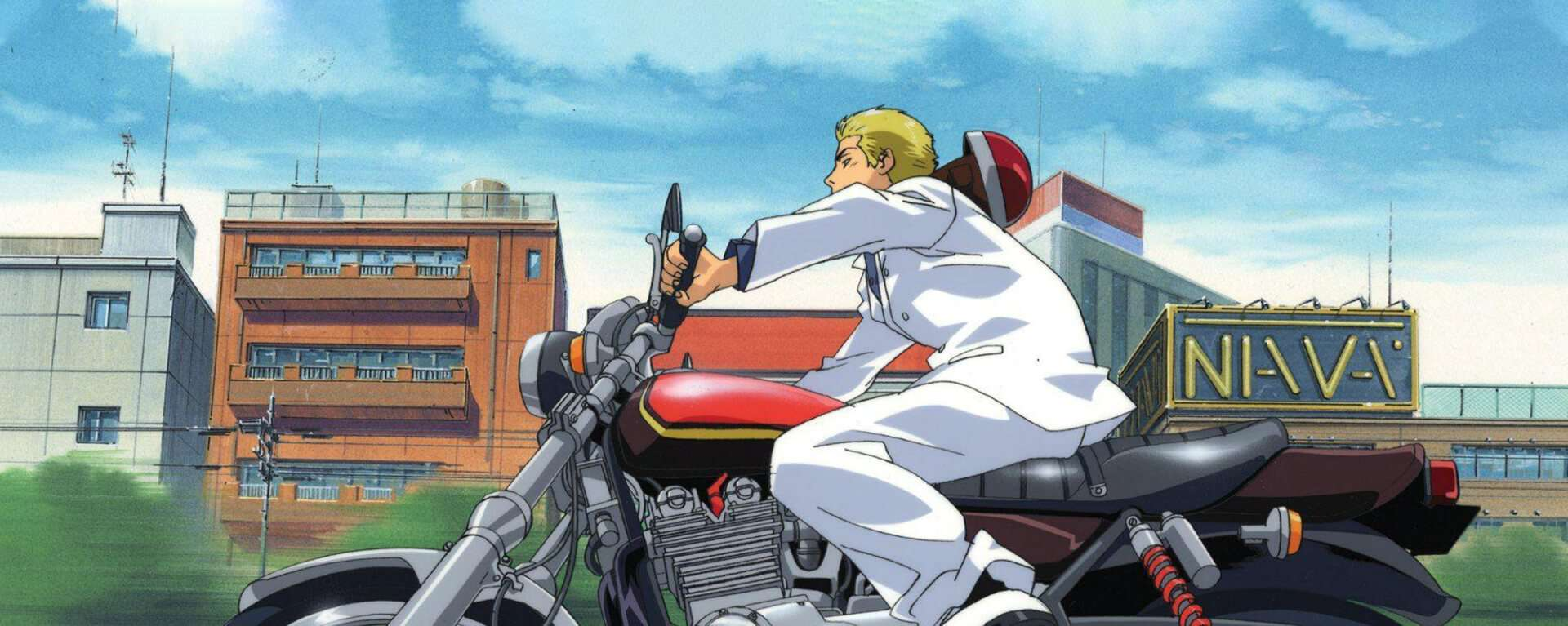 capa de great teacher onizuka andando de moto
