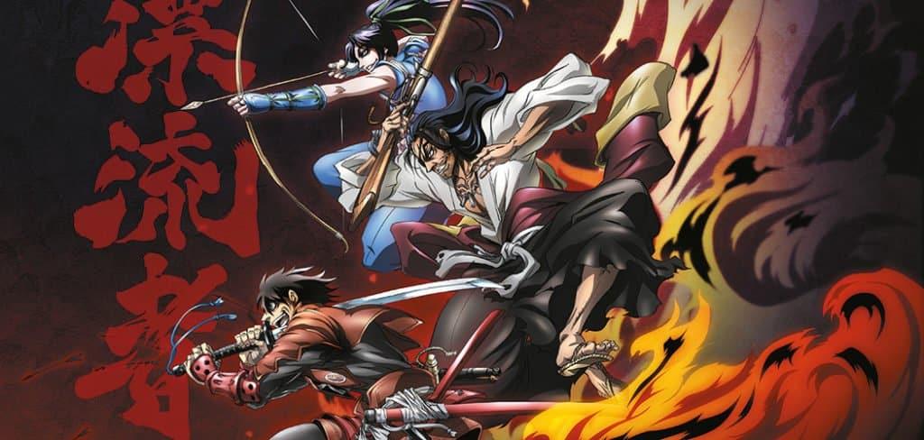 Capa Drifters, anime Seinen, Gerreiros samurais indo em direção a algo