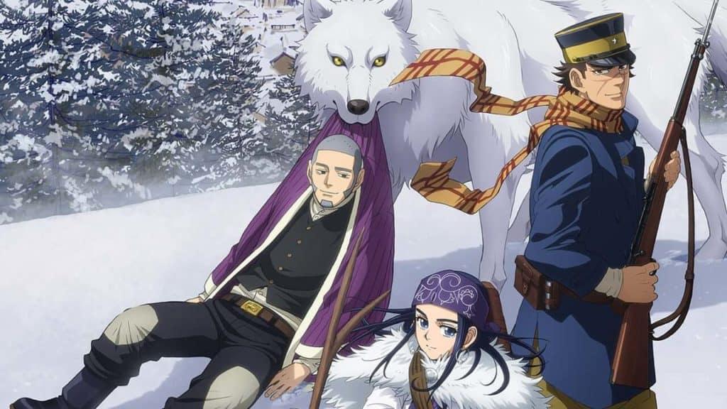 Capa Golden Kamui, todos os principais personagens na capa