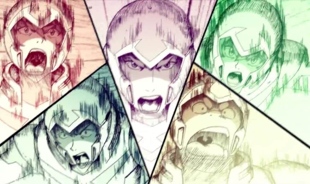 Paladinos do Voltron no Climax da Batalha