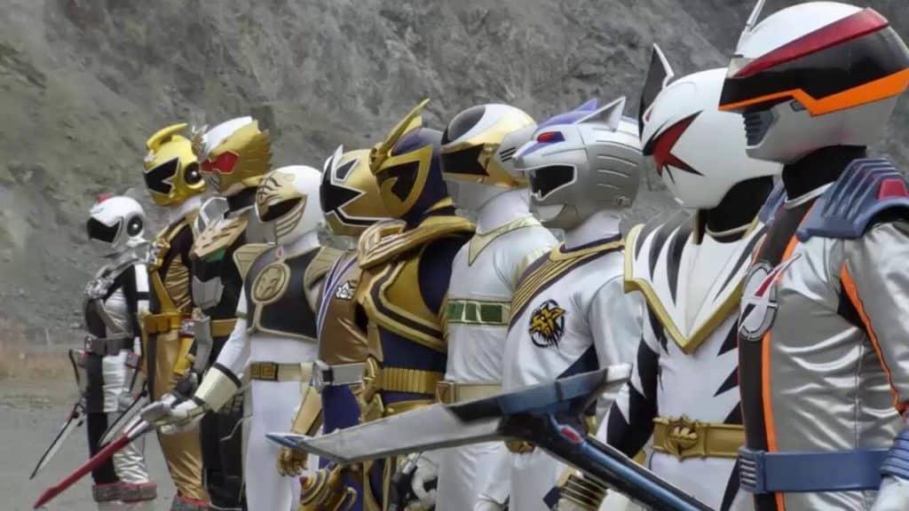 Todos os Power Rangers brancos reunidos