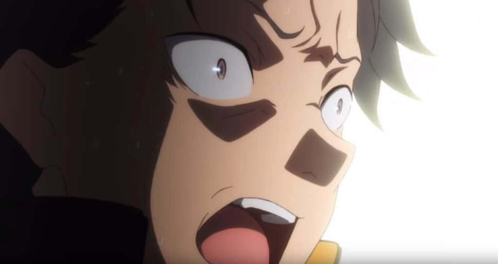 Subaru Assustado Re Zero após Emilia falar que não sabe quem é a Rem