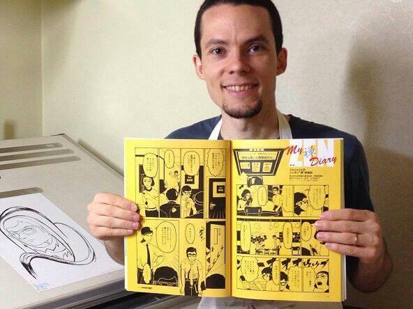 Ângelo Vasconcelos Levy autor de mangá no Japão