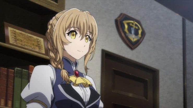 Atendente da Guilda sorridente