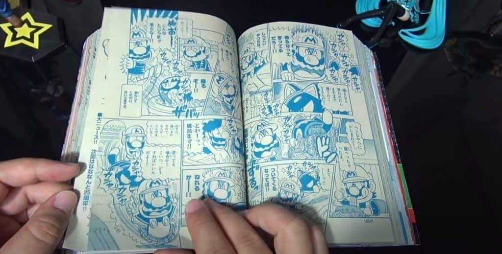 Páginas Azuladas na revista de mangás