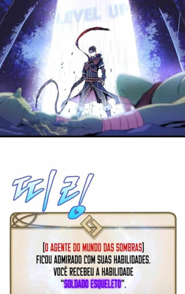 Protagonista de Kill the Hero evoluindo por matar monstros parecidos com Solo Leveling