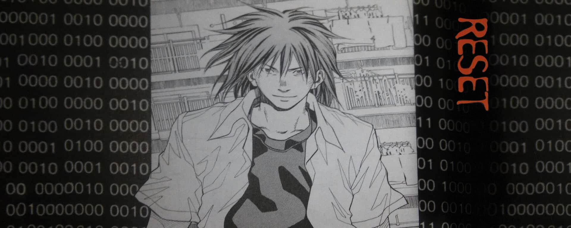 capa do mangá reset com o protagonista centralizado