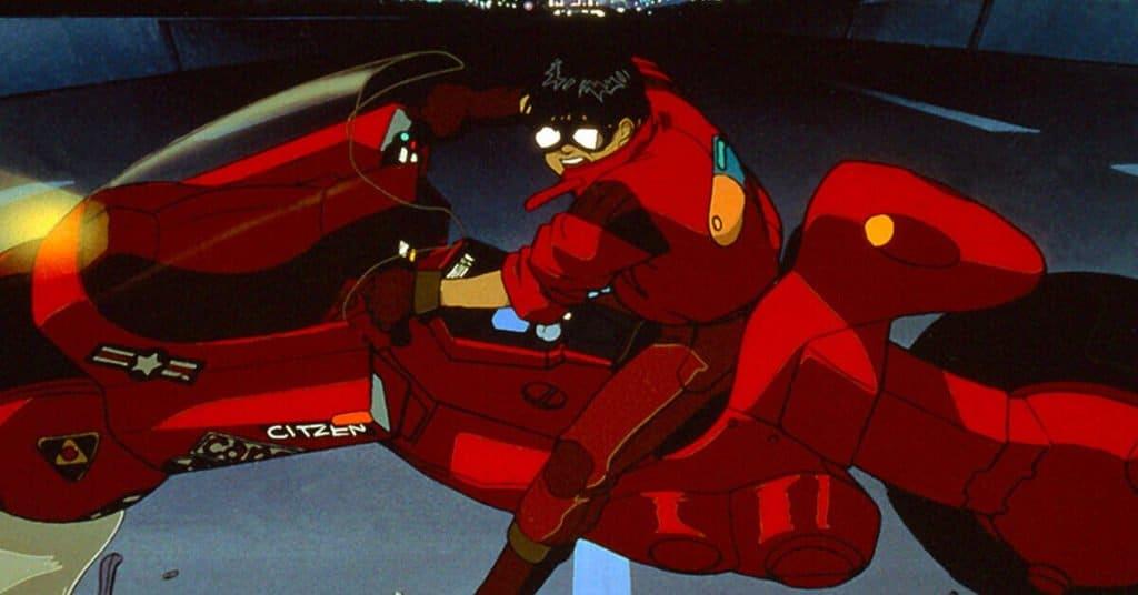 Akira foto do filme com protagonista numa moto