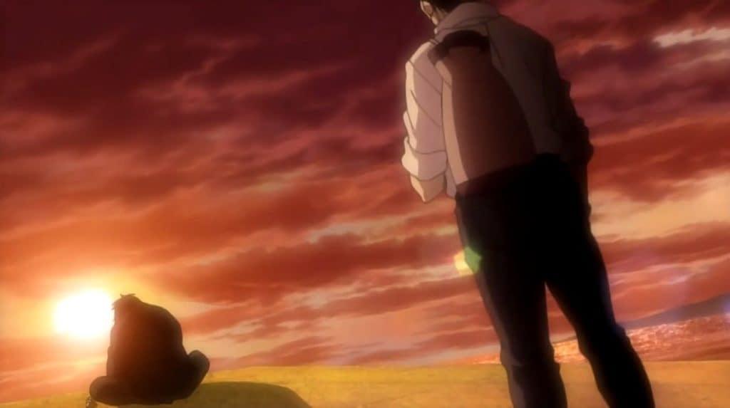 Cena pôr do sol em Rainbow com Mario e Ishihara