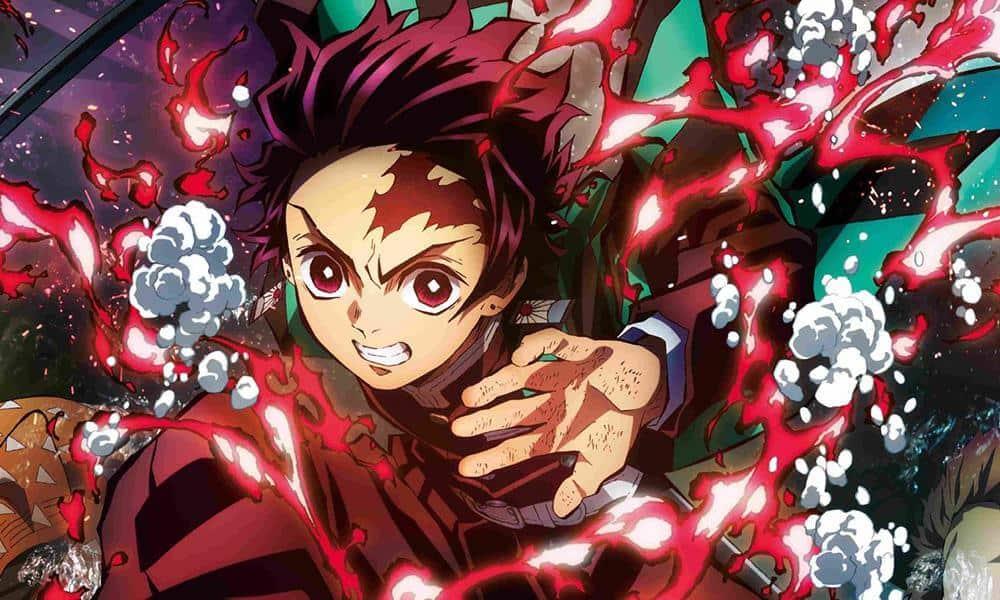 Demon Slayer capa notícias com Tanjiro na frente