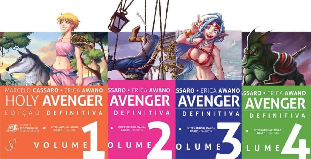 4 primeiras edições de Holy Avenger