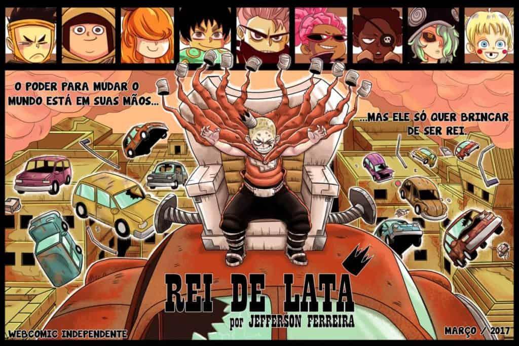 Capa Rei de Lata com vários personagens