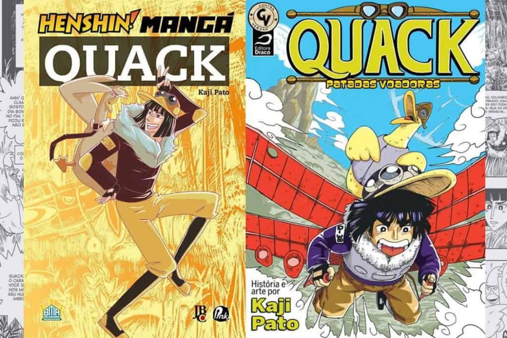 Capas dos volumes de Quack, mangá brasileiro