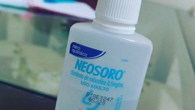 Soro Nasal chamado neosoro na cor azul