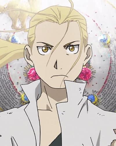 Imagem de um personagem presente na abertura de Fullmetal Alchemist