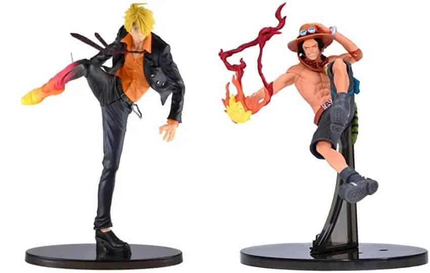action figures de one piece da loja com sanji e ace