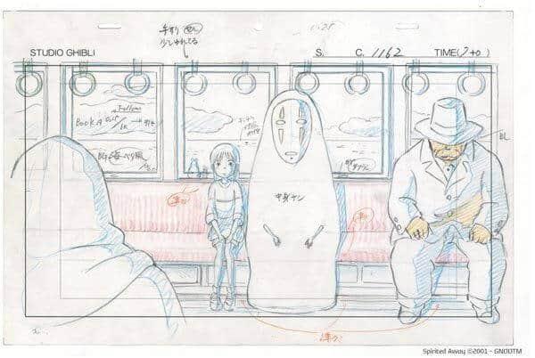 layout de chihiro cena do trem