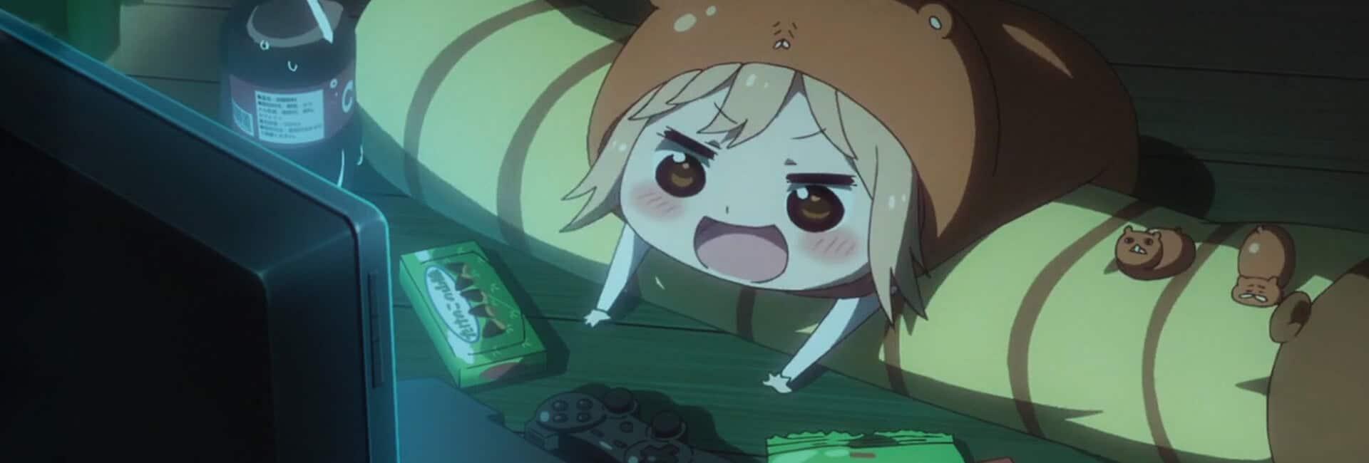 melhores opening nos animes com umaru cham vendo anime numa tv