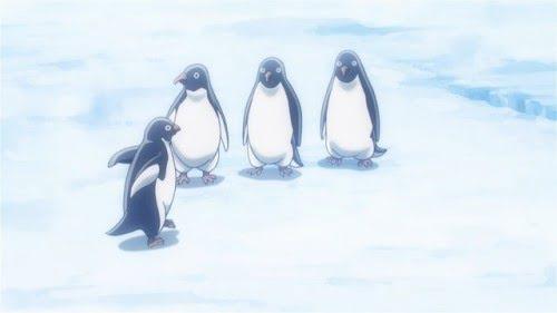 penguins em sora yori mo tooi basho andando