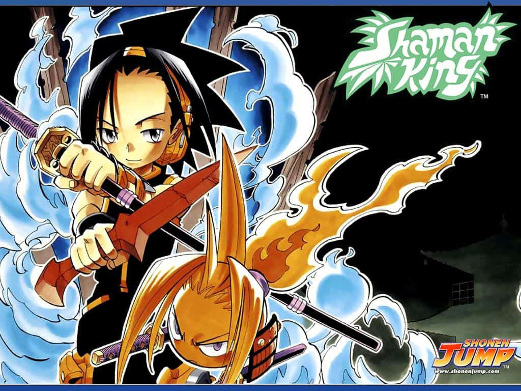 design de personagens de shaman king