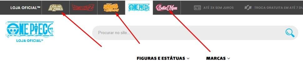 site oficial da loja oficial de one piece