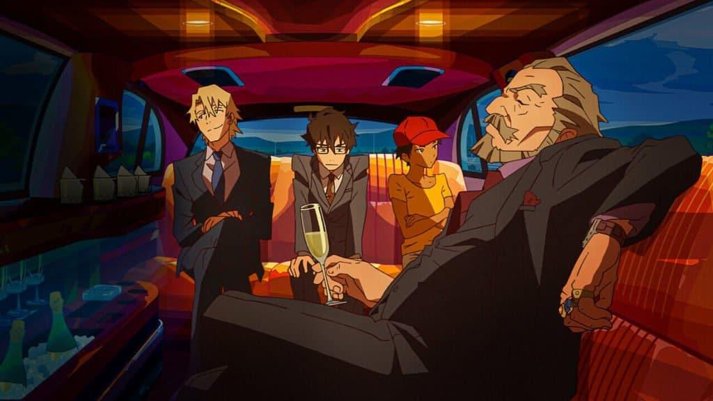 vigaristas e mafioso dentro de uma limousine