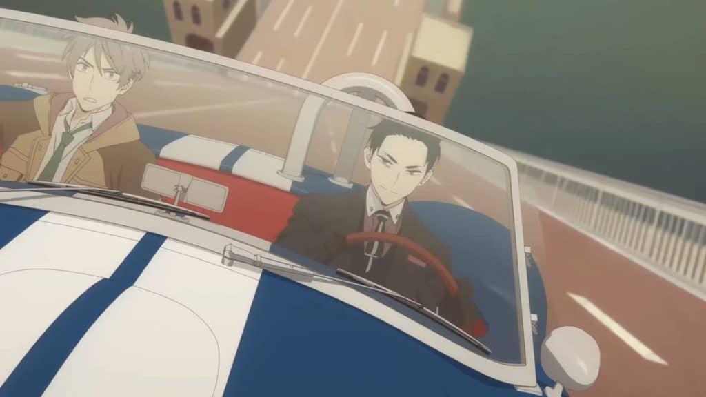 Daisuke e Katou no carro em uma ponte