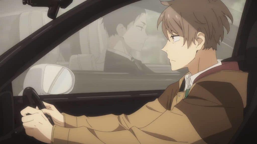 Katou e Daisuke, protagonistas de Fugou Keiji se encontrando em um carro