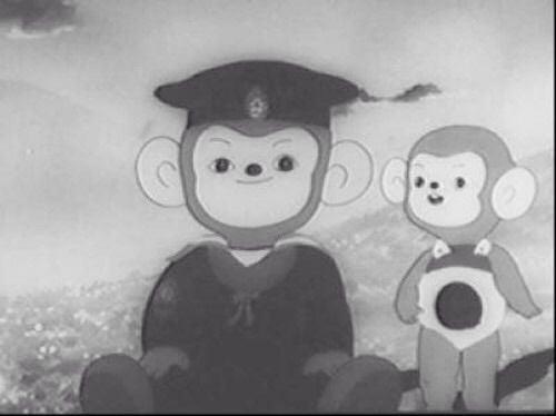 Imokawa Mukuzō Genkanban no Maki anime preto e branco