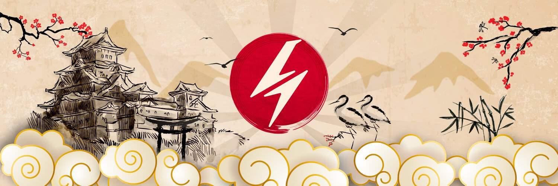 o logo da cúpula do trovão, onde um raio simboliza as letras C e T (sortudo, quase ninguém repara isso) a logo do nosso blog sobre anime e mangás