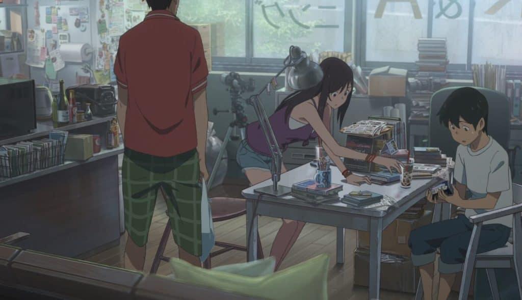 garota retirando a cerveja da mão do hodaka em tenki no ko