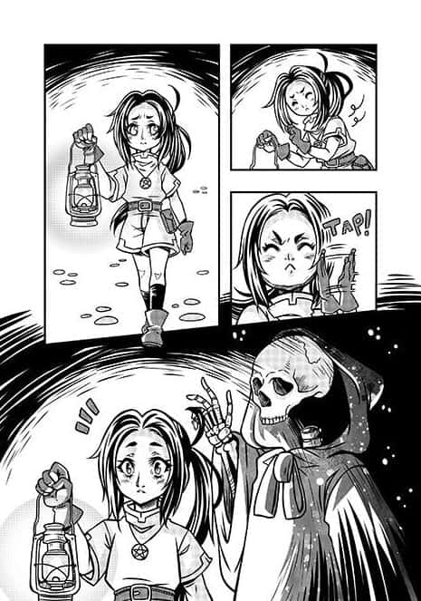 página solta do mangá moon witch