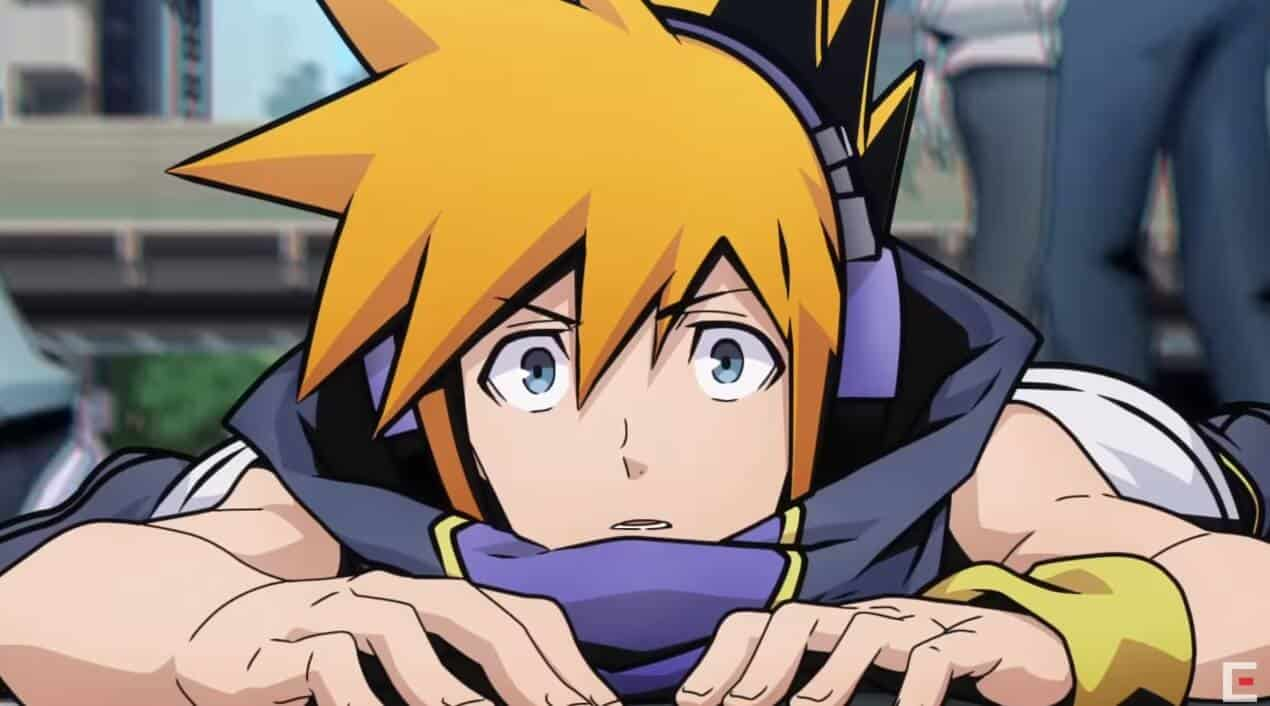 the world ends with you protagonista deitado numa estrada
