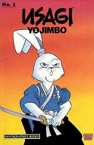 capa do volume 1 da história em quadrinhos de usagi yojimbo