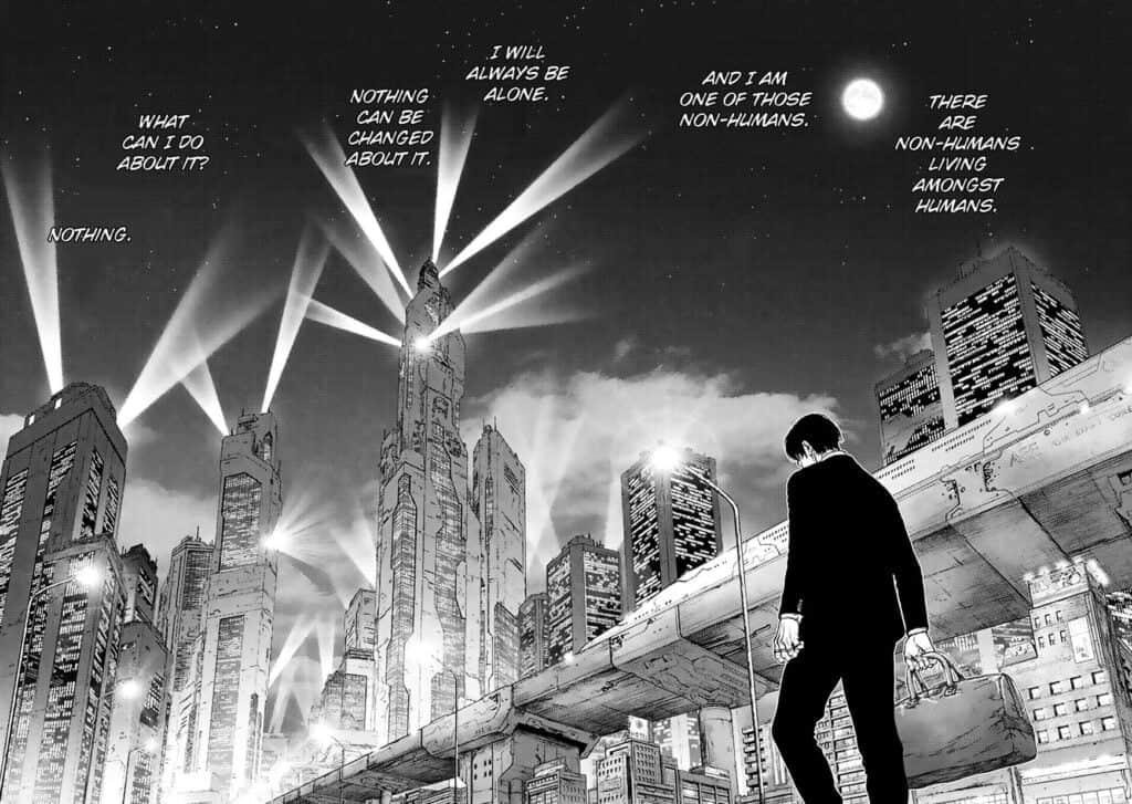 Visão panoramica do japão futurista de Origin