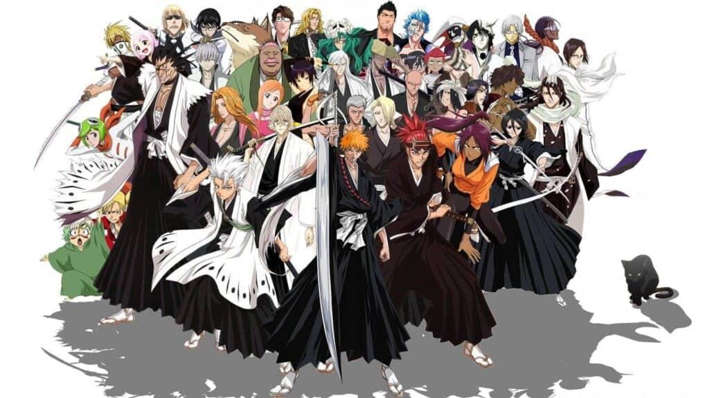 Personagens de Bleach, animes parecidos com Naruto