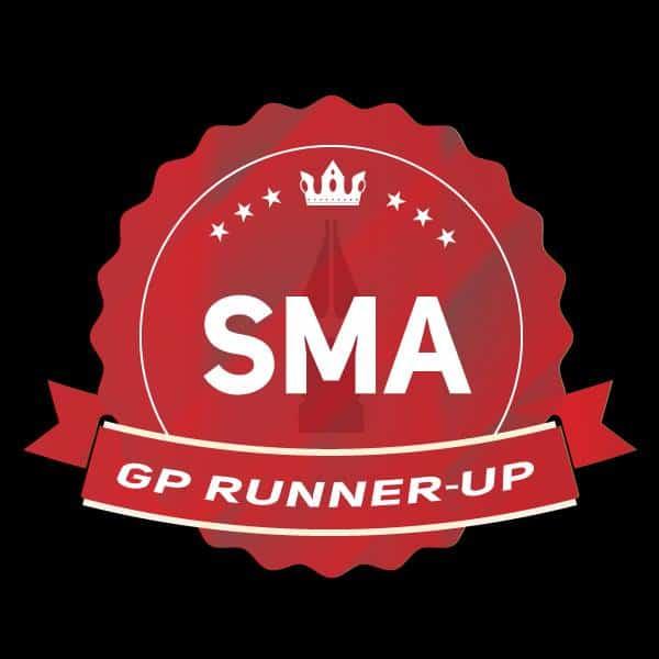 Selo de premiação do SMA: Grand Prix