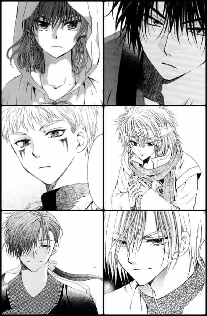akatsuki no yona personagens