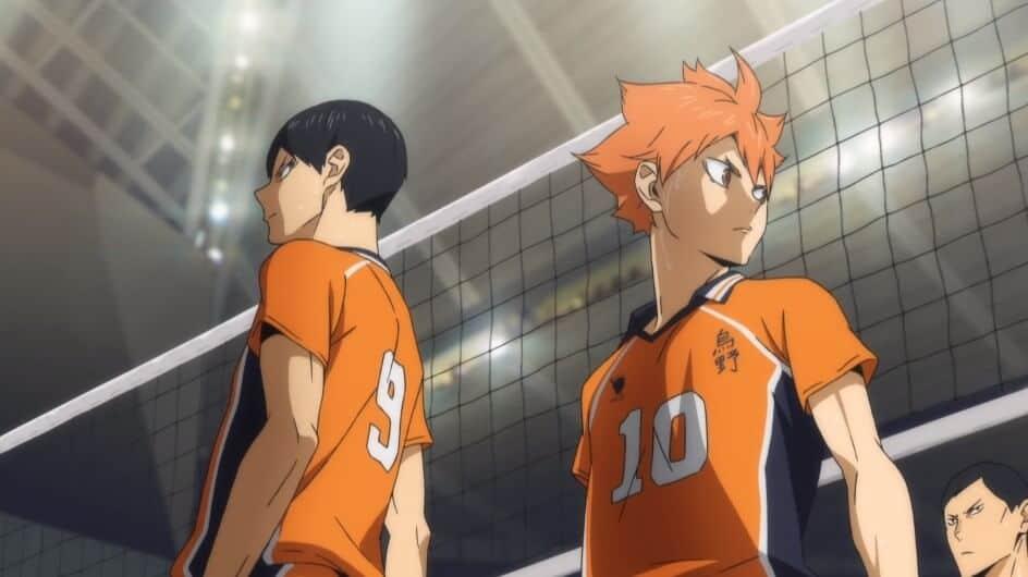 haikyuu uniforme laranja