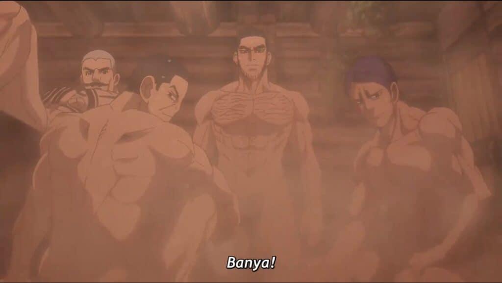 Golden Kamuy nos apresenta a Sauna russa também chamada de Banya