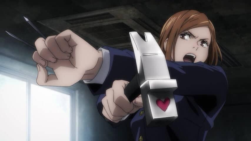 Nobara Kugisaki com sua arma