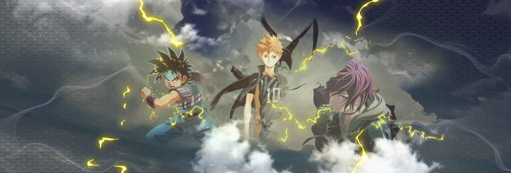 animes da temporada de outubro 2020 em destaque - Haikyuu, dragon quest e akudama drive