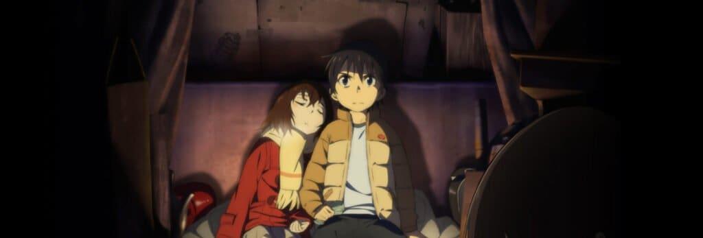 personagens de erased crianças sentados juntos