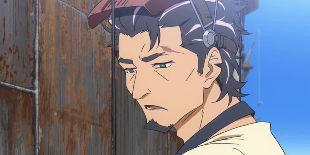 kaburagi em deca dence com máscara e cara de cansado