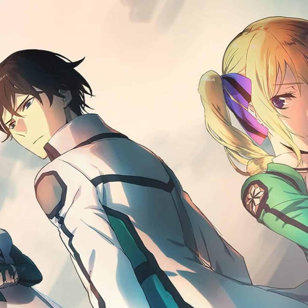Personagens principais de Mahouka, Miyuki, Tatsuya e Lina